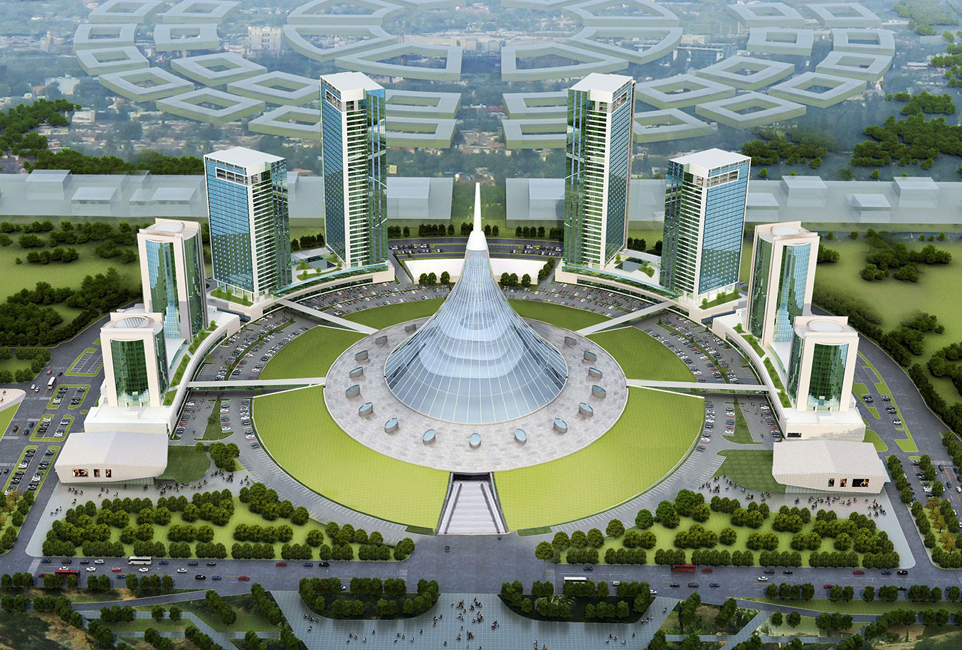 Khan shatyr towers kazakhstan meinhardt transforming for Office design kazakhstan